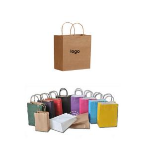 BDEV5060-Natural Colorful Kraft Paper Shopper Tote Bag