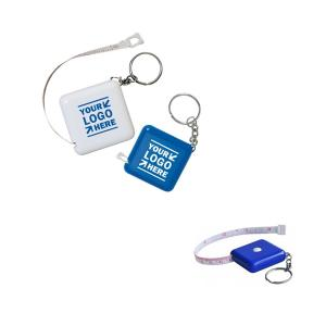 Retractable Square Tape Measure with Key Chain