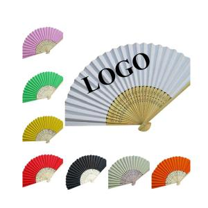 BDKV4103-- Handheld Folding Fan with Bamboo Frame