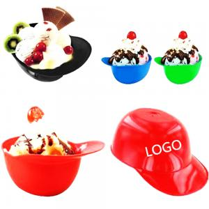BDCC1091- 8oz Mini Baseball Helmet Ice Cream Bowl
